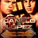 Canelo vs Lopez * Knockout Kings * Original Boxing Poster 2' x 3' Rare 2012 Mint