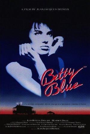 "BETTY BLUE Original Movie Poster * Béatrice Dalle * 27"" x 40"" Rare 1986 Mint"