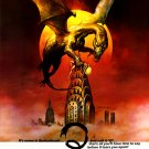 "Q The Winged Serpent Original Movie Poster * BORIS VALLEJO * 27"" x 40"" Rare 1982 Mint"
