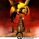 "Q The Winged Serpent Original Movie Poster * BORIS VALLEJO * 27"" x 40"" Rare 1982 Mint"