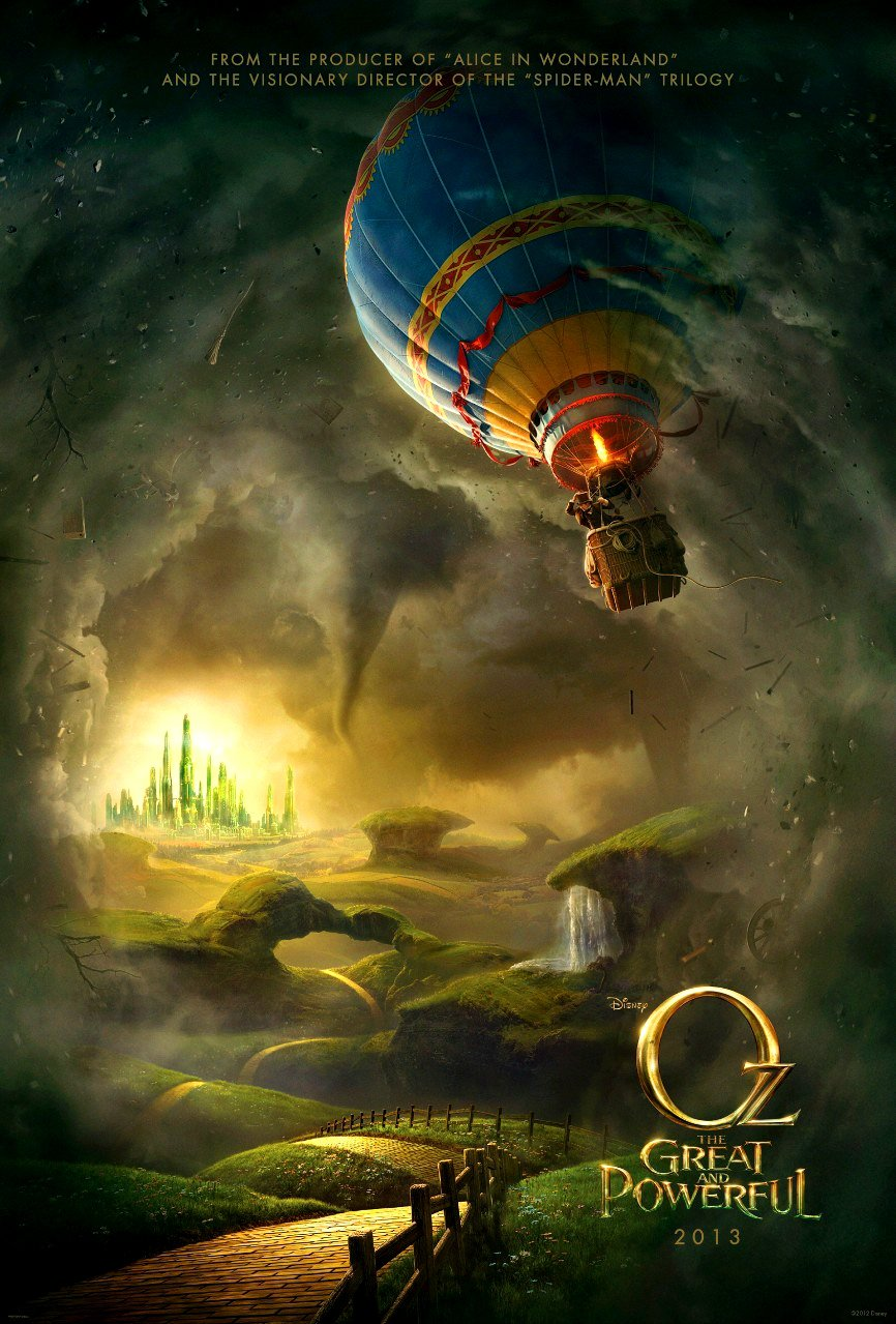 """OZ The Great and Powerful Original Movie Poster * James Franco *  27"""" x 40"""" DS Rare 2012 Mint"""