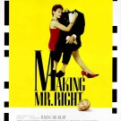 "MAKING MR. RIGHT Original Movie Poster * Ann Magnuson & John Malkovich * 16"" x 20"" Rare 1987 Mint"