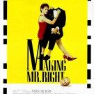 "MAKING MR. RIGHT Original Movie Poster * Ann Magnuson & John Malkovich * 16"" x 20"" Rare 1987 Mint"