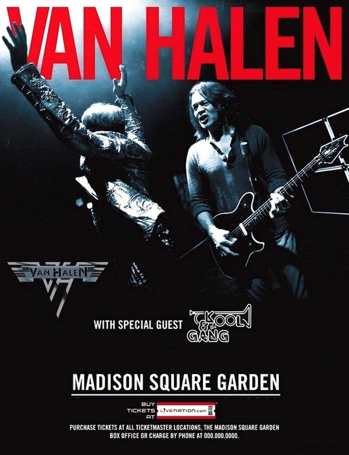 Van Halen Original Concert Poster Madison Square Garden Nyc Huge 4 39 X 6 39 Rare 2012 Mint