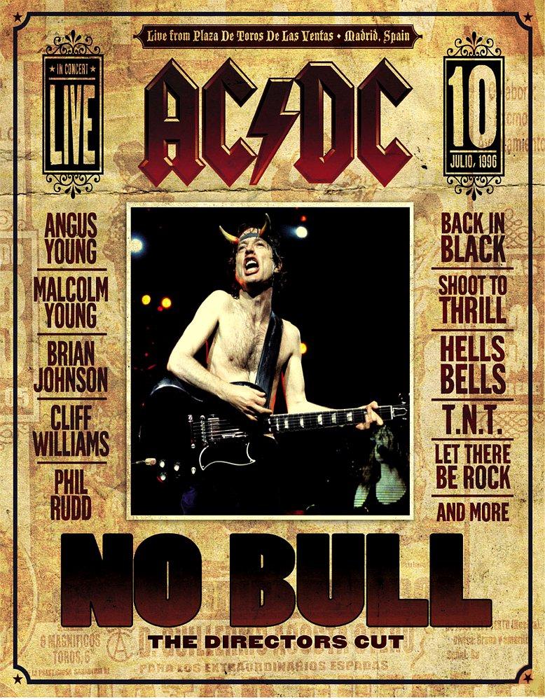 AC/DC * Plug Me In & No Bull * 2 Poster SET 2' x 3' Rare 2008 Mint