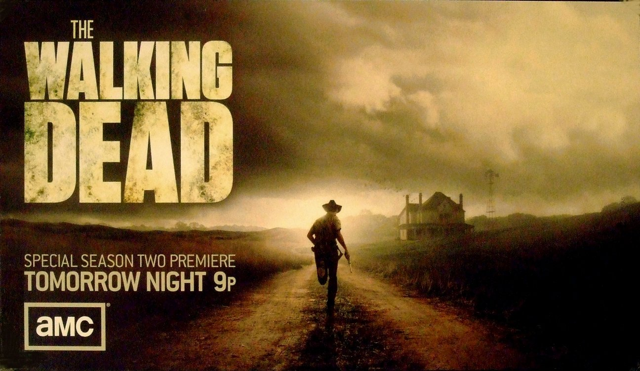 "THE WALKING DEAD Original Promo Lobby Card AMC 6"" x 11"" Rare 2011 Mint"