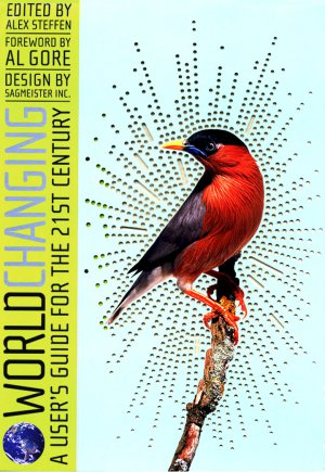 """Worldchanging : A Users Guide for the 21st Century Mounted Book Poster 15"""" x 22"""" Rare 2006 MINT"""