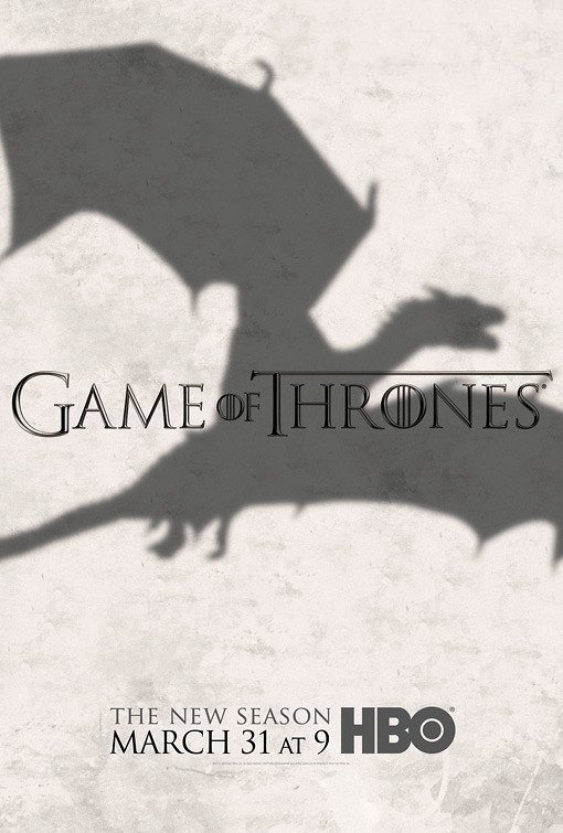"GAME OF THRONES Original Poster * Dragon * HBO 27""'x 40"" Rare 2013 Mint"