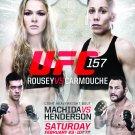 Rousey vs. Carmouche Original UFC 157 Poster 2' x 3' Rare 2013 Mint