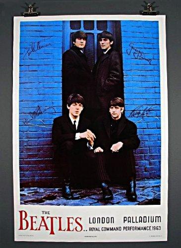 "The BEATLES Original NEMS Palladium Rolled Poster 26""x38"" Very Rare 1964 MINT"