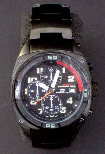 MTM * SPECIAL OPS * Military Watch Limited Edition BLACK PREDATOR w/ 3 Bands NEW