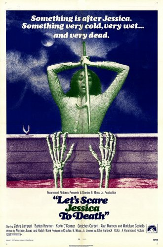 "Let's Scare Jessica to Death Original Movie Poster * ZOHRA LAMPERT * 27"" x 40"" Rare 1971 Mint"