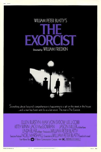 "Friedkin's THE EXORCIST Original Movie Poster * Linda Blair * 27"" x 40"" Rare 1973 Mint"