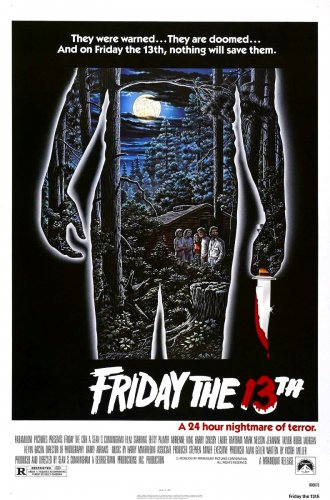 """FRIDAY THE 13th Original Movie Poster * Kevin Bacon * 27"""" x 40"""" Rare 1980 Mint"""