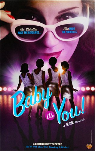 """BABY IT'S YOU ! Original Broadway Theater Poster * Beth Leavel * 14"""" x 22"""" Rare 2011 Mint"""