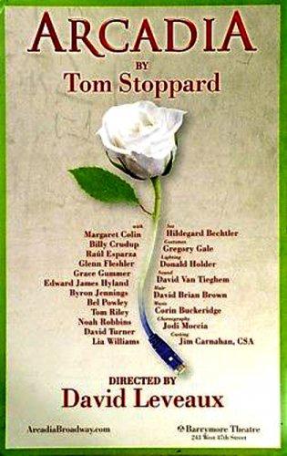 "ARCADIA Original Broadway Theater Poster * Billy Crudup * 14"" x 22"" Rare 2011 Mint"