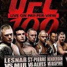 UFC 100 Mixed Martial Arts Championship Bout Original Event Poster 2' x 3' Rare 2009 Mint
