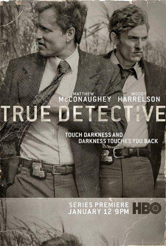 "TRUE DETECTIVE Orig Poster * Matthew McConaughey & Woody Harrelson * HBO 27""'x 40"" Rare 2014 Mint"