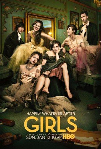 "GIRLS Original Poster * Lena Dunham * HBO 27""'x 40"" Rare 2014 Mint"