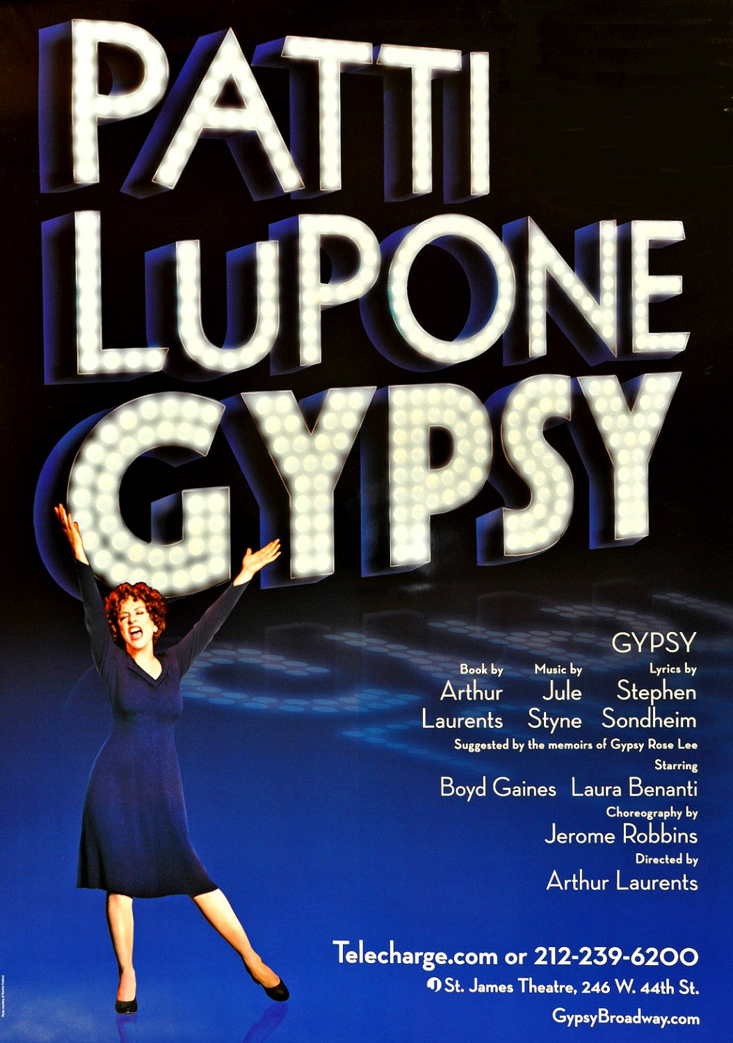 GYPSY Broadway Poster * PATTI LUPONE * 3' x 4' Rare 2008 NEW