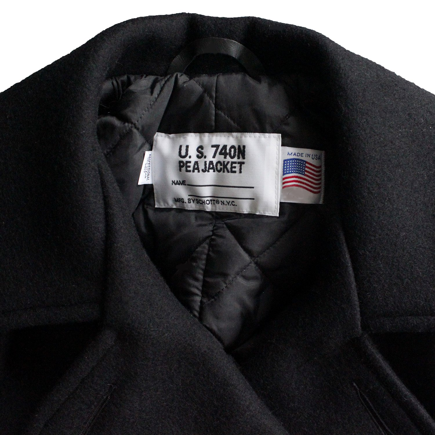 50f28ae32a0 Schott USA Classic Melton Wool Pea Coat 32oz 740 N Size 54 Long NEW w Tags