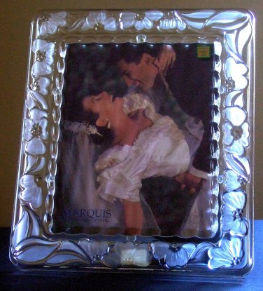 MARQUIS Waterford * FLORAL * Crystal Wedding Frame 8\