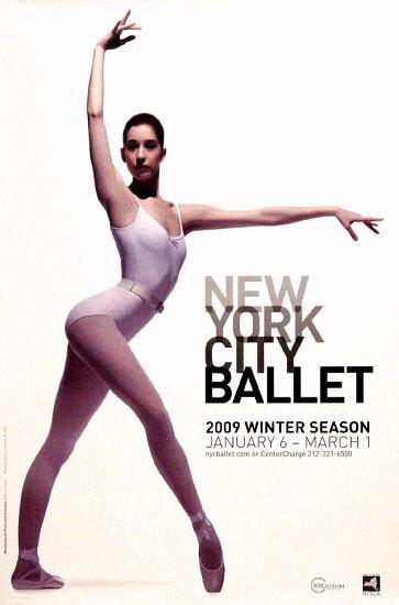 NYC BALLET Poster * WINTER SEASON * 2' x 3' Rare 2009 Mint