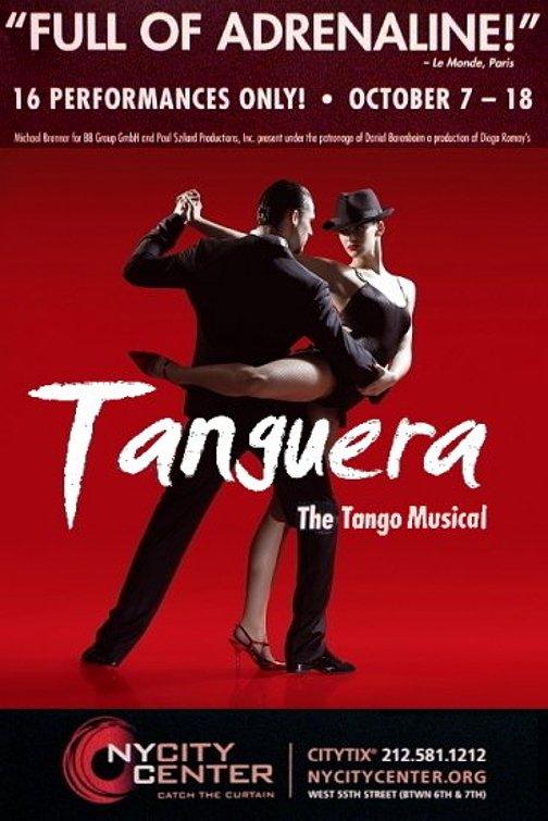 "TANGUERA Dance Poster * New York City Center * 14"" x 22"" Rare 2009 NEW"