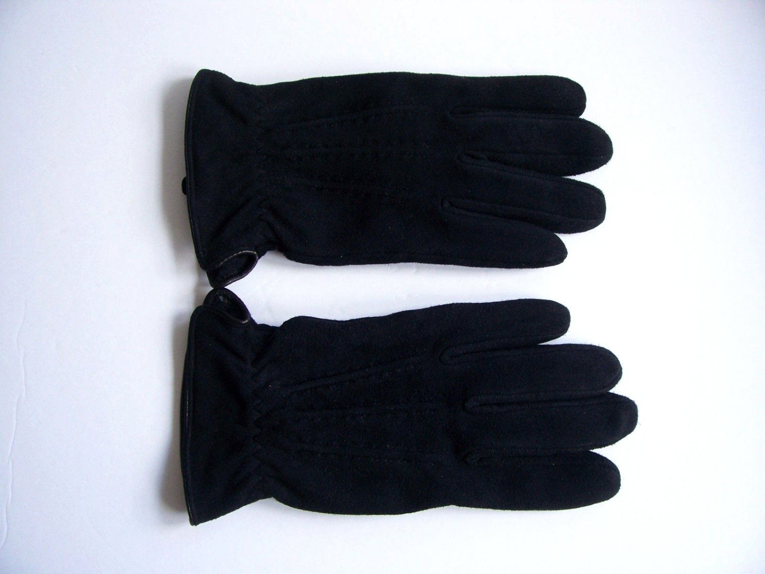 Bay Area Traders Mens Thinsulate Soft Suede Leather Gloves Black X-Large NEW