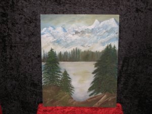 Landscape Canvas On Board Painting, Signed Kay Jorgenson, Dated 1985