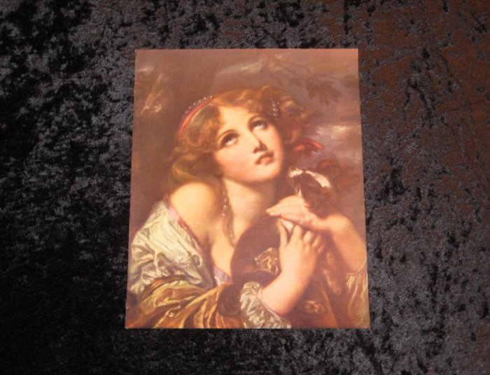 Greuze, victorian vintage lithograph, actually printed in 1912