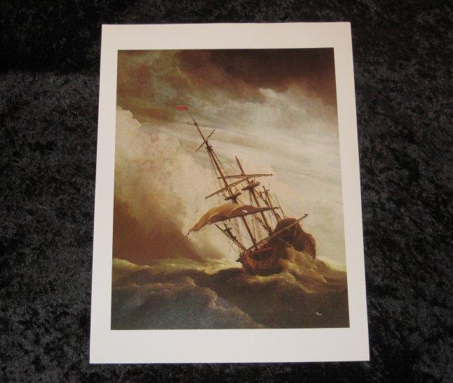"""Willem van de Velde; the Younger, new nautical print, 12"""""""