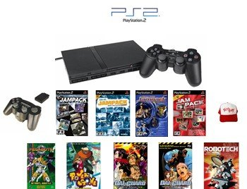 """Slim Sony Playstation 2 """"Basic Bundle"""" - 30+ Games with Wireless Controller and more"""