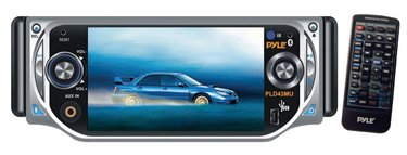 """Pyle PLD43MU Pyle dvd 4.3"""" Touch Screen TFT Monitor with DVD/VCD/MP3/CD Player"""