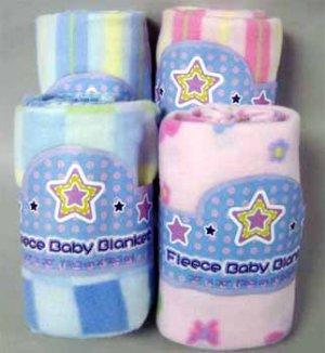 duke stevens fleece baby blankets wholesale lot 6