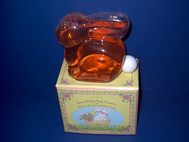 AVON PEACH BUBBLE BATH IN BUNNY RABBIT DECANTER
