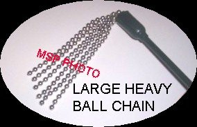 """20"""" METAL BALL CHAINS CROP WHIP"""