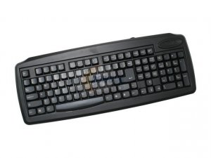 Linkworld LK7010A-C2222-PSII Black 108 Normal Keys PS/2 Slim Keyboard