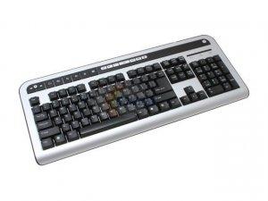 SPEC Research KA-558U/HUB Silver & Black USB Standard Multi-Media Keyboard With 2 USB Hubs