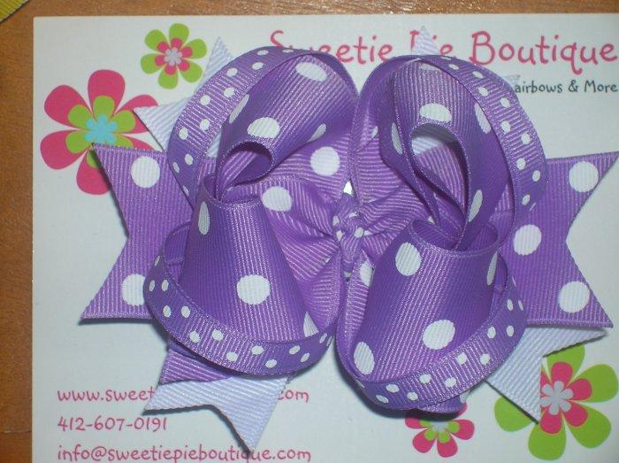 Purple & White 4 Layered Boutique