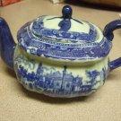 VICTORIA WARE IRONSTONE Tea Pot 'Flow Blue' NEW