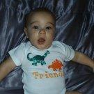 Friends!! Hand Painted Baby Onesie 12 MONTHS