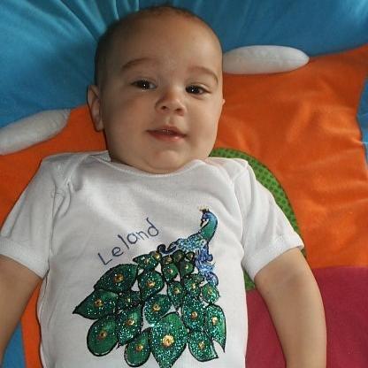 Baby Onesie Boy Customized Name 18 months