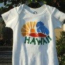 """Baby Onesie Boy Hand painted """" HAWAII"""" size NEWBORN"""