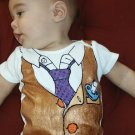 Hand Painted Baby Bodysuit Wrapped as Candy- Working 9 to 5 - Gift ready to Give-size 3-6 months