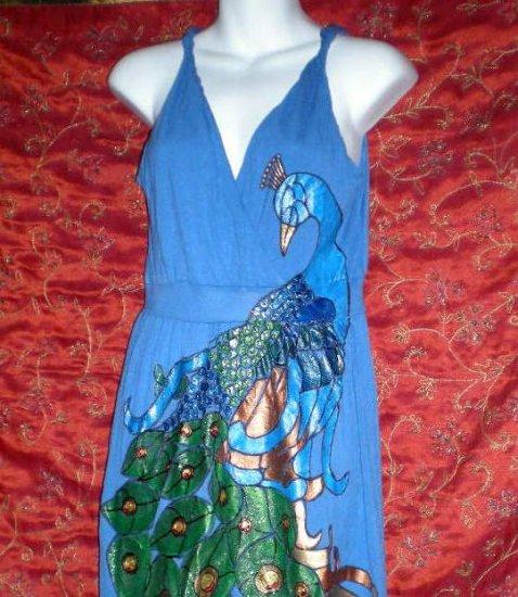 Custom order  Peacock in Blue Dress size medium