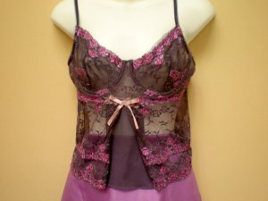 Hand Painted lace purple corset