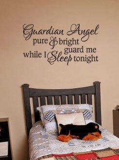 Vinyl Wall Lettering Words Guardian Angel