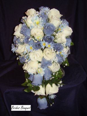WEDDING BOUQUET SET, 21PC., CUSTOM COLOR,FREE RING PILLOW!!!