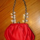 NEW FRANCESCO BIASIA $165.00 RED HANDBAG PURSE